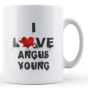 Ich liebe Angus Young bedruckte Becher