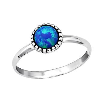 Round - 925 Sterling Silver Jewelled Rings - W27973X