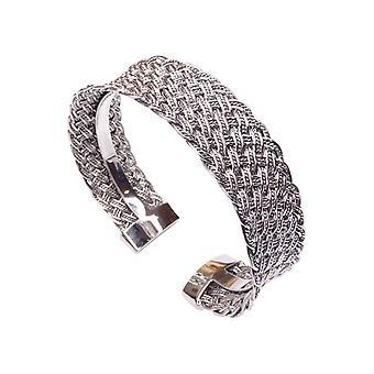 Silber Armband Klemme gewebt