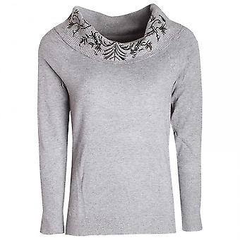 Passioni Cowl Collar Long Sleeve Knitted Jumper