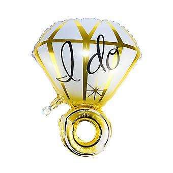 TRIXES Wrist Diamond Ring Foil Balloon Gold