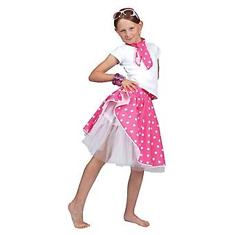 Rock N Roll spódnica różowy, rozmiar uniwersalny.