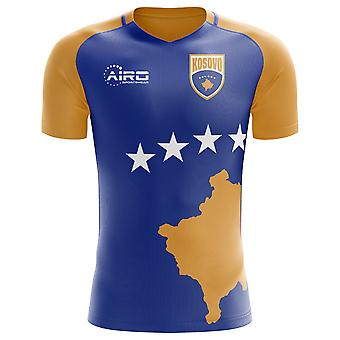 2020-2021 Kosovo Home Concept Football Shirt - Adulte Manches longues