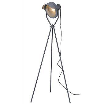 Lucide Cicleta Industrial  Steel Grey Floor Lamp