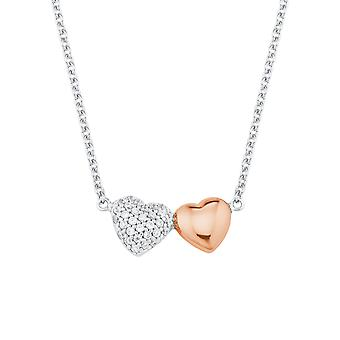s.Oliver Jewel Damen Kette Halskette Silber Herz Zirkonia 2024207
