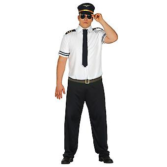 Mens pilote aviateur avion vol costumé