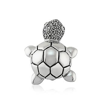 Gemondo Sterling Silver 0.22ct Marcasite Set Cute Turtle Brooch