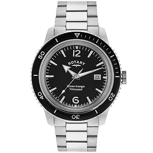 Rotary Ocean Avenger Silver Silver Stainless Steel Strap Men's Watch GB02694/04 40mm