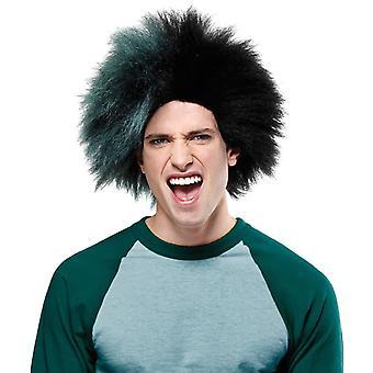 Wig For Sports Fan Black Green