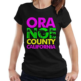 Orange County Retro kleur tekst Women's T-Shirt