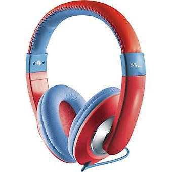 Trust Sonin Children Over-ear headphones Over-the-ear Volume limiter, Volume control Red, Blue