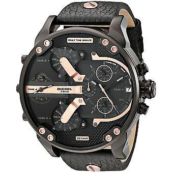 Diesel Dz7350 Mr. Daddy 2.0 Multifunction Leather Watch