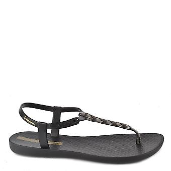 Ipanema Charm Black Braided Rubber Sandal