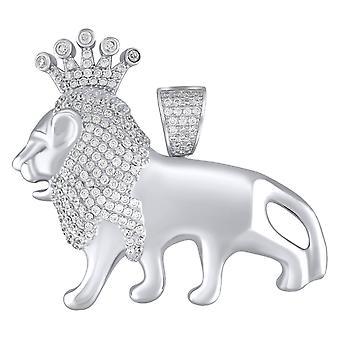 Premium Bling - 925 Gümüş KRAL ASLAN Kolye