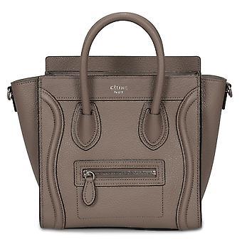 Celine Nano bagage taske i baby Drummed Tan Calfskin læder