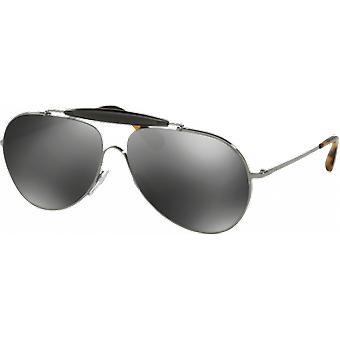 Prada SPR56S Gunmetal Grey Miroité Silver