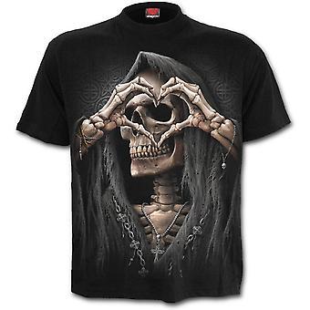 Spiraal direct-Dark Love-mannen zwart korte mouw t-shirt