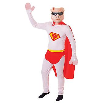 Costume da Super Pig di Bristol Novelty Mens