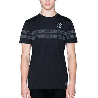 Новая эра STRIPED Рубашка - Питтсбург Стилерс вереск черный