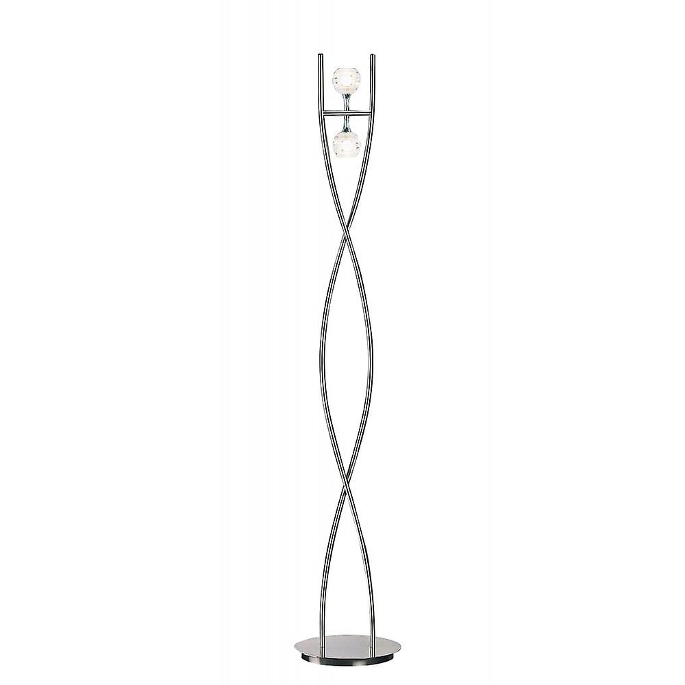 Mantra Dali Floor Lamp 2 Light G9, Polished Chrome