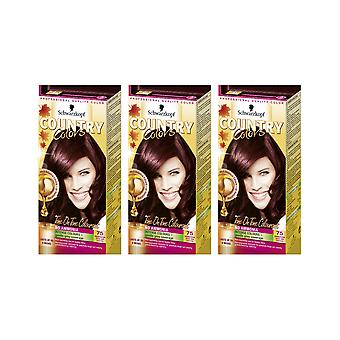 Schwarzkopf Country Colours 75 Madagascar Rouge Noir Semi-Perm Hair Dye x 3