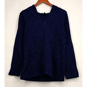 C. wonder top ontspannen V-hals hoodie w/Kangaroo Blue A275830