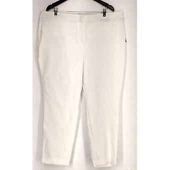 Alfani Plus Pantalones Jacquard Tejida Cintura Confort Blanco Mujer