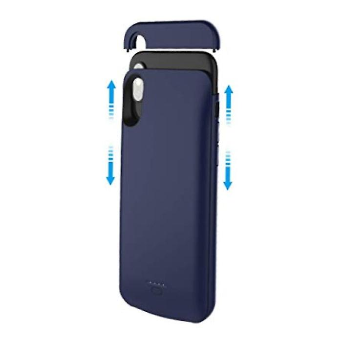 Stuff Certified® iPhone XS Max 5000mAh Slim Powercase Powerbank Charger Battery Cover Case Case Blue