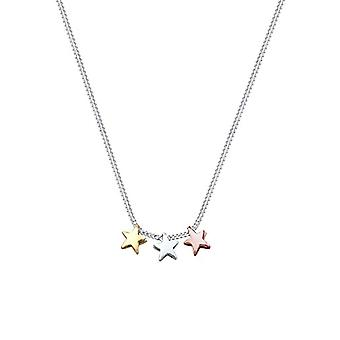 Collar Elli con colgante de mujer en plata 925 - chapado en oro