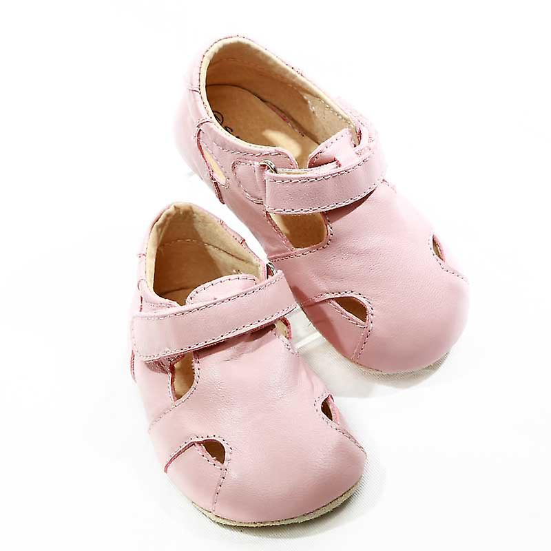 SKEANIE Leather Pre-walker Sunday Sandals in Pink