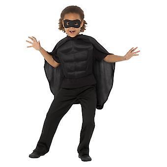 Børnetøj sort superhelte Fancy kjole Kit