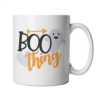 Boo Thing Mug | Halloween Fancy Dress Costume Trick Or Treat | Hallows Eve Ghost Pumpkin Witch Trick Treat Spooky | Halloween Cup Gift