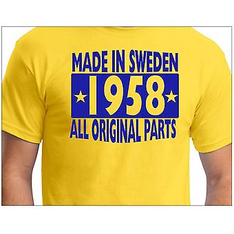 T-shirt jaune made in Sweden 1958 ALL original Parts