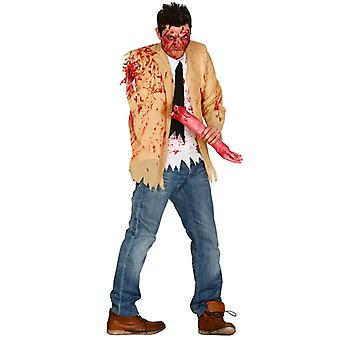 Mens geamputeerde Zombie Halloween fancy dress kostuum