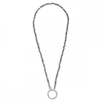 Nikki Lissoni Silver Colour 48cm Silver Beaded Necklace N1009S48