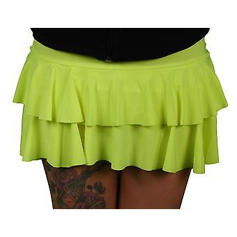 Wicked Nights Yellow Ra-Ra Skirt M/L
