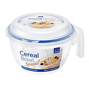 Lock & Lock 950ml Cereal Bowl With Airtight Clip On Lid