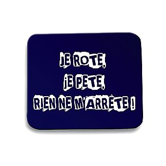 Navy navy blue mouse pad fun1921 humorous i burp i fart nothing stops me