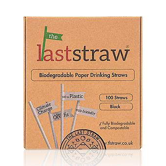 the Last Straw - 100% Biodegradable Paper Drinking Straws (100 Pack)(Plain)