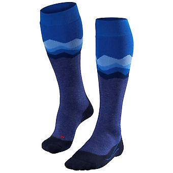 Falke Ski 2 Crest Knee High Socks - Bleu Olympique
