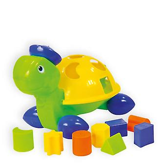 Plug-in Turtle, Sorting Game, Form Sorter with 8 Shapes and Colors