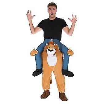 Lions piggyback bear me rider costume