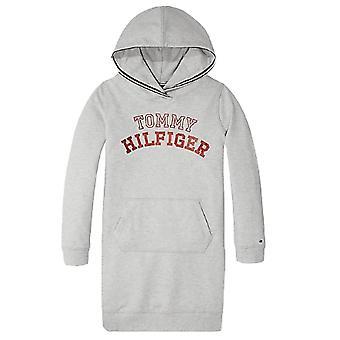 Tommy Hilfiger Girls Grey Logo Hoody Dress