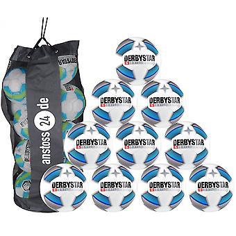 10 x DERBYSTAR Youth Ball - BRILLANT LIGHT Dual Bonded incl. Ballsack 2019