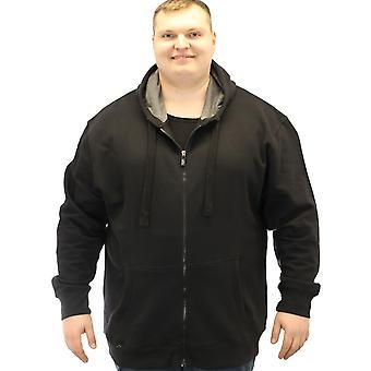 Kam Full length Zip Extra Long Plain Hoodie