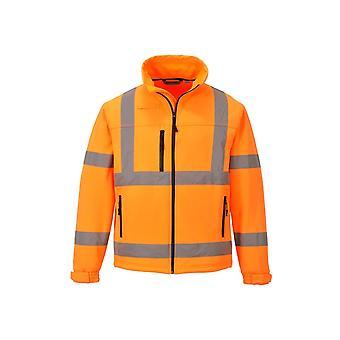 Portwest hi-vis clássico casaco de jaqueta de roupas de trabalho softshell (3l) s424
