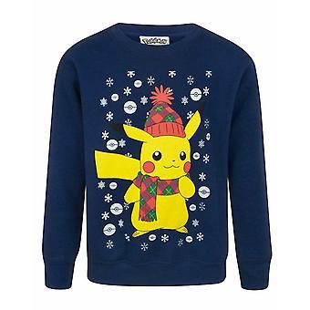 Pokemon Pikachu Kid's Christmas Sweatshirt