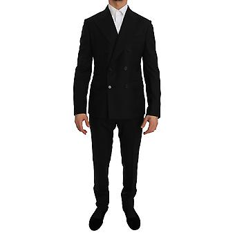 Dolce & Gabbana Black Double Breasted Slim Fit Suit