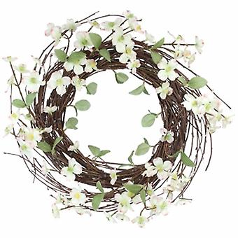Off White floral spring Wreath by Gisela Graham | Handpicked gifts