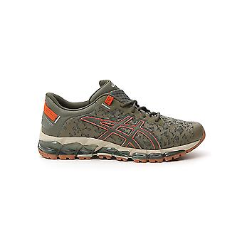 Asics 1021a268300 Men's Green Fabric Sneakers